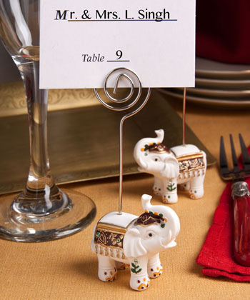 Good Luck elephant place card holders