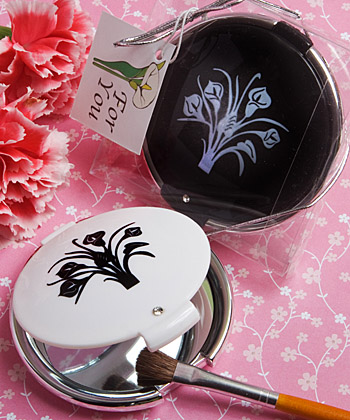 Classy Compacts Collection calla lily design compact favors