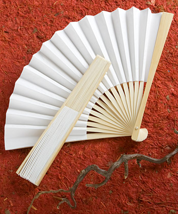 Elegant White folding fans