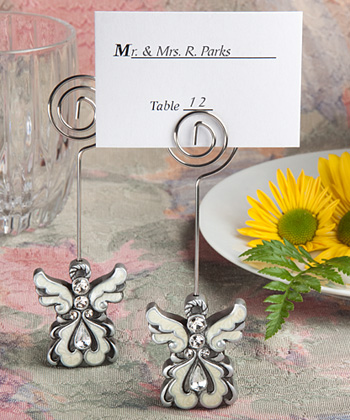 Angel design place card holders