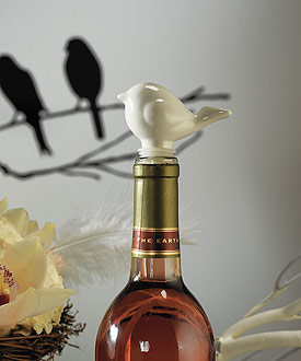 Ceramic Love Bird Bottle Stopper with Gift Packaging