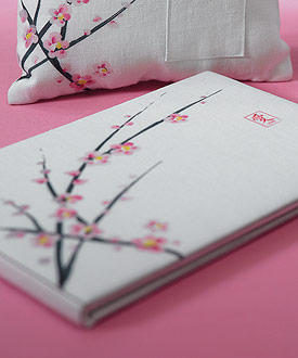 Cherry Blossom Traditional Guest Book