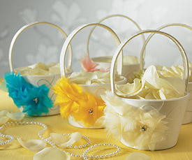 I Do . . . Color  Flower Girl Basket