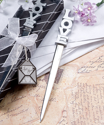 Love Design Letter Opener Favors