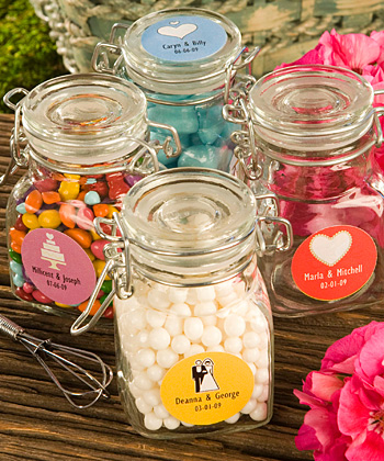 Personalized Expressions Collection Apothecary Jar Wedding Favors