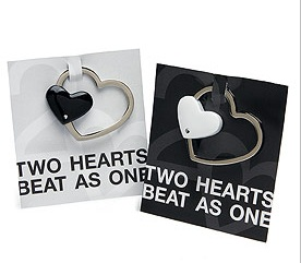 Practical Metal Heart Key Ring Holder Wedding Favor