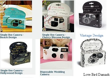 Disposable Wedding Camera - Unique Designs