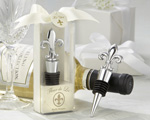 """Fleur-de-Lis"" Elegant Chrome Bottle Stopper"
