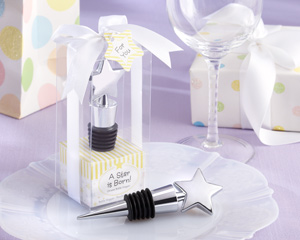 """A Star is Born!"" Chrome Bottle Stopper"
