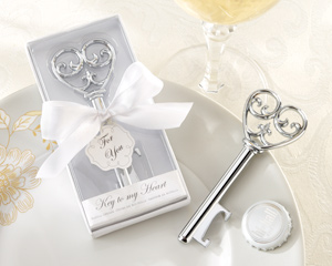 Simply Elegant Key To My Heart Bottle Opener