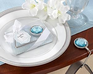 """Something Blue"" Shimmering Purse Valet"
