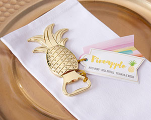 GOLD PINEAPPLE BOTTLE OPENER