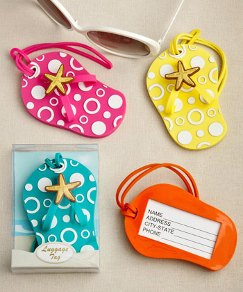 Flip Flop luggage tags in decorative