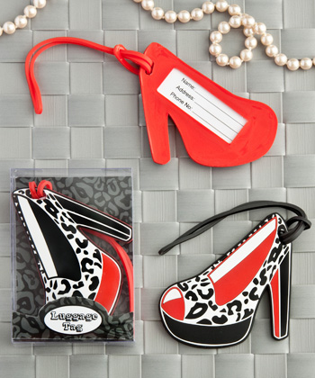 Shoe design luggage tags
