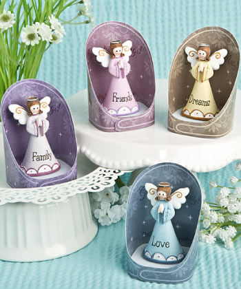 Gorgeous Guardian Angel Figurines - set of 12