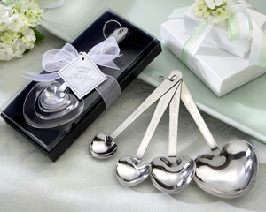 Love Beyond Measure Heart-Shaped Measuring Spoons-practical wedding favors, wedding shower favors