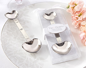 """Two Hearts"" Stainless-Steel Measuring Spoon-Two Hearts Stainless-Steel Measuring Spoon"