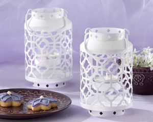 Skylights white Openwork Mini Lantern