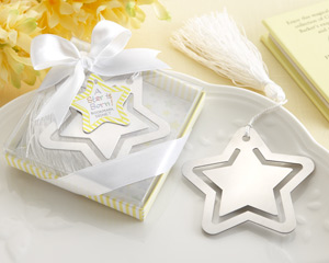 A Star is Born Metal Bookmark with White-Silk Tassel