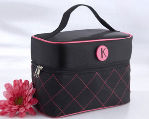 """The Cosmopolitan"" Monogrammed Cosmetic Travel Bag"