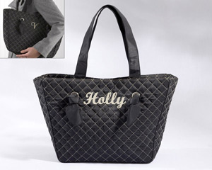 Knotted Couture Quilted Tote Bag (Personalization Available)