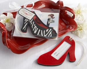 """First Class Fashionista"" High Heel Luggage Tag"