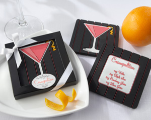 """Oh, So Cosmopolitan"" Reversible Recipe Coaster"