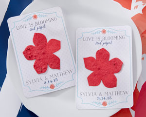 """LOVE IS BLOSSOMING"" PERSONALIZED SEED PAPER CARDS (SET OF 12)"