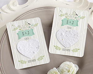 """LOVE GROWS"" PERSONALIZED HEART SEED PAPER CARDS (SET OF 12)"