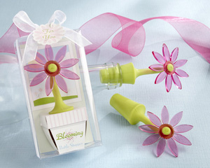 """Blooming"" Flower Bottle Stopper in Whimsical Window Gift Box-spring wedding favors, wine wedding favors, practical wedding favors, garden wedding favors"