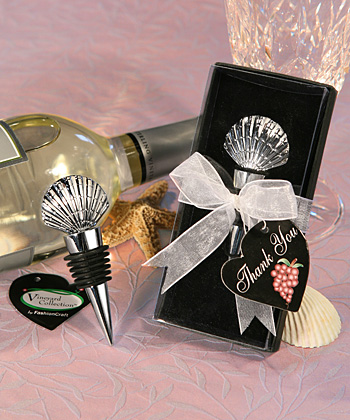 Shell Design Wine Stopper Favors