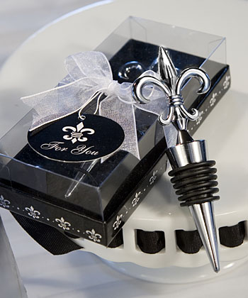 Fleur De Lis Design Wine Bottle Stopper Favors
