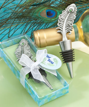 Peacock design bottle stoppers