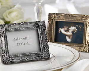 Work of Art Antique-Finish Gold Place Card Holder - Photo Frame