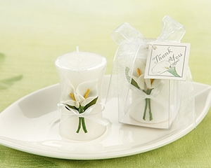 Calla Lily Elegance Vase Shaped Candle-