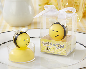 """Sweet as Can Bee!"" Baby Bee Candle (Set of 4)"