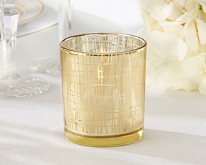 Classic Gold Stripe Tealight Holder (Set of 4) Classic Gold Stripe Tealight Holder (Set of 4) Classic Gold Stripe Tealight Holder (Set of 4)