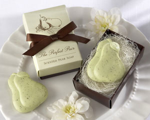 """The Perfect Pair"" Scented Pear Soap-soap wedding favors"