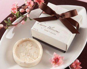 Cherry Blossom Scented Soap-Cherry Blossom wedding favors, pink wedding favors, kate aspen wedding favors