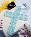Murano Glass Collection hanging cross favors (blue)