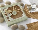 Natural Bamboo Eco-Friendly Coaster Favors