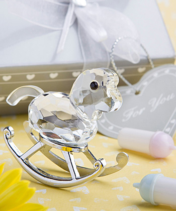 Choice Crystal Collection rocking horse favor