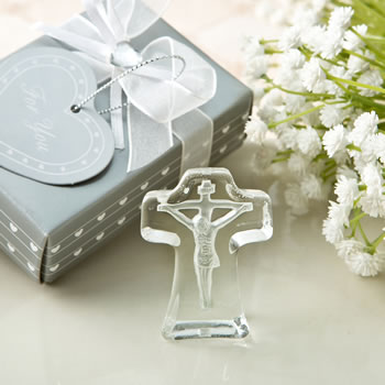 CHOICE CRYSTAL COLLECTION CROSS WITH DEEP ETCH OF JESUS