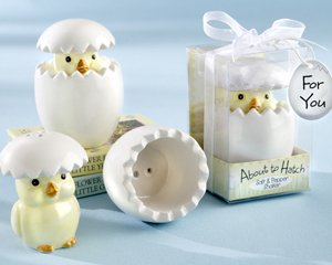 About to Hatch ceramic Baby Chick Salt Pepper Shakers