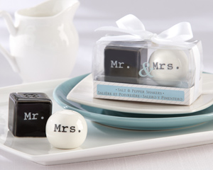 Mr. & Mrs. Ceramic Salt & Pepper Shakers-Mr. & Mrs. Ceramic Salt & Pepper Shakers