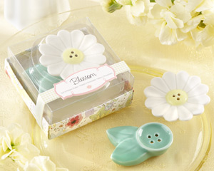 Blossom Ceramic Salt & Pepper Shakers