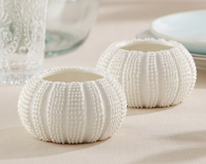"""SEA TIDINGS"" SEA URCHIN TEALIGHT HOLDERS (SET OF 2)"