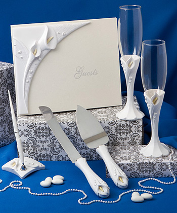 CALLA LILY THEMED WEDDING DAY ACCESSORY SET