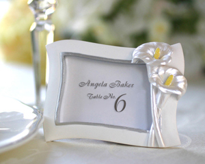 Swaying Calla Lily Pearlescent Place Card/ Photo Frame