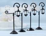 """Bourbon Street"" Streetlight Place Card Holder with Coordinating Place Cards (Set of 4)"